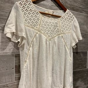 Tops - BH Indian Lace Short Sleeve Size Large